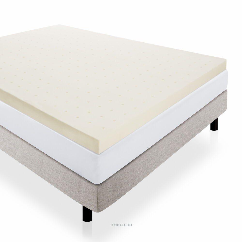 4 memory foam mattress topper by lucid ebay 4 memory foam mattress topper