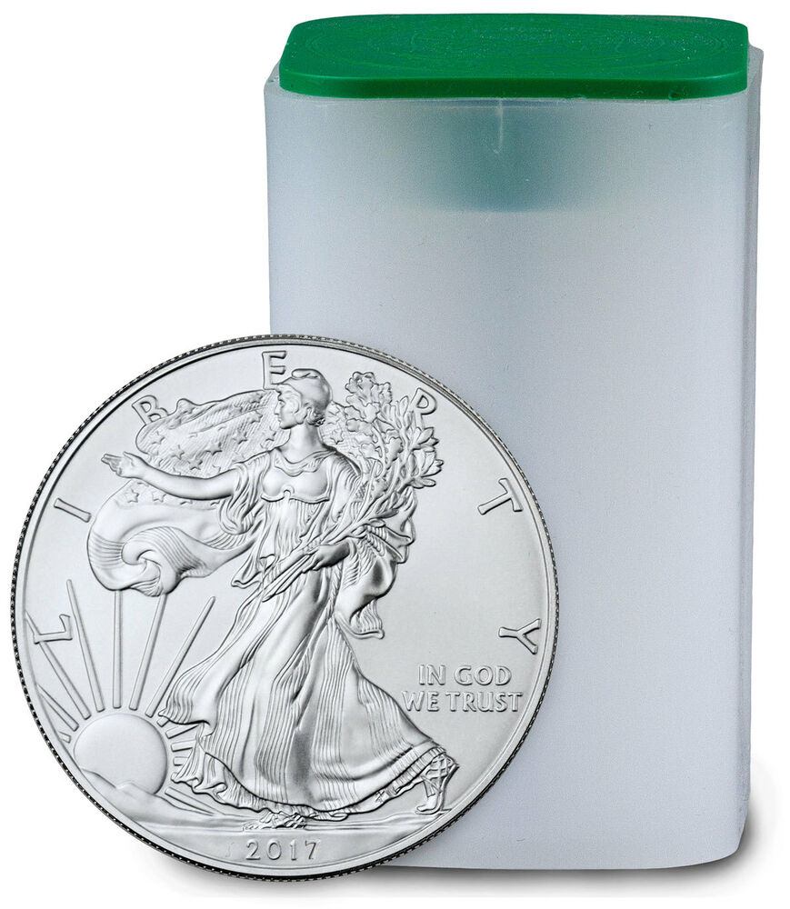 2017 1 Troy Oz American Silver Eagle Roll Of 20 Coins