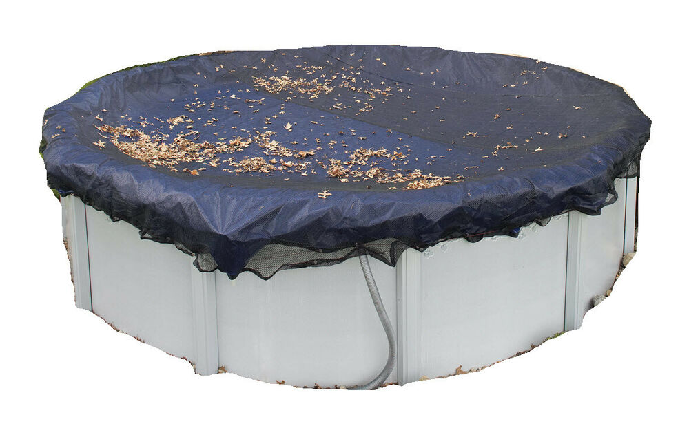 24 39 Round Above Ground Pool Winter Leaf Net Cover Bag Skimmer Trap For Intex Ebay