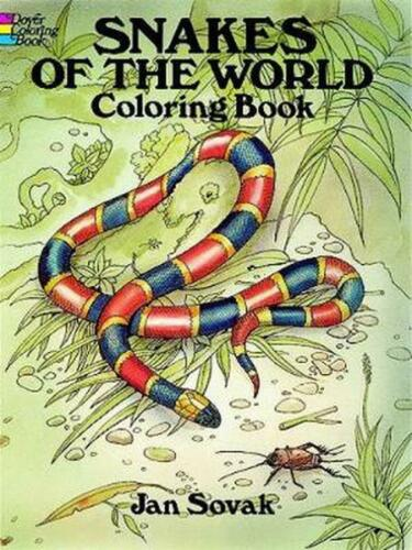 Snakes of the World Coloring Book by Jan Sovak (English) Paperback Book Free Shi