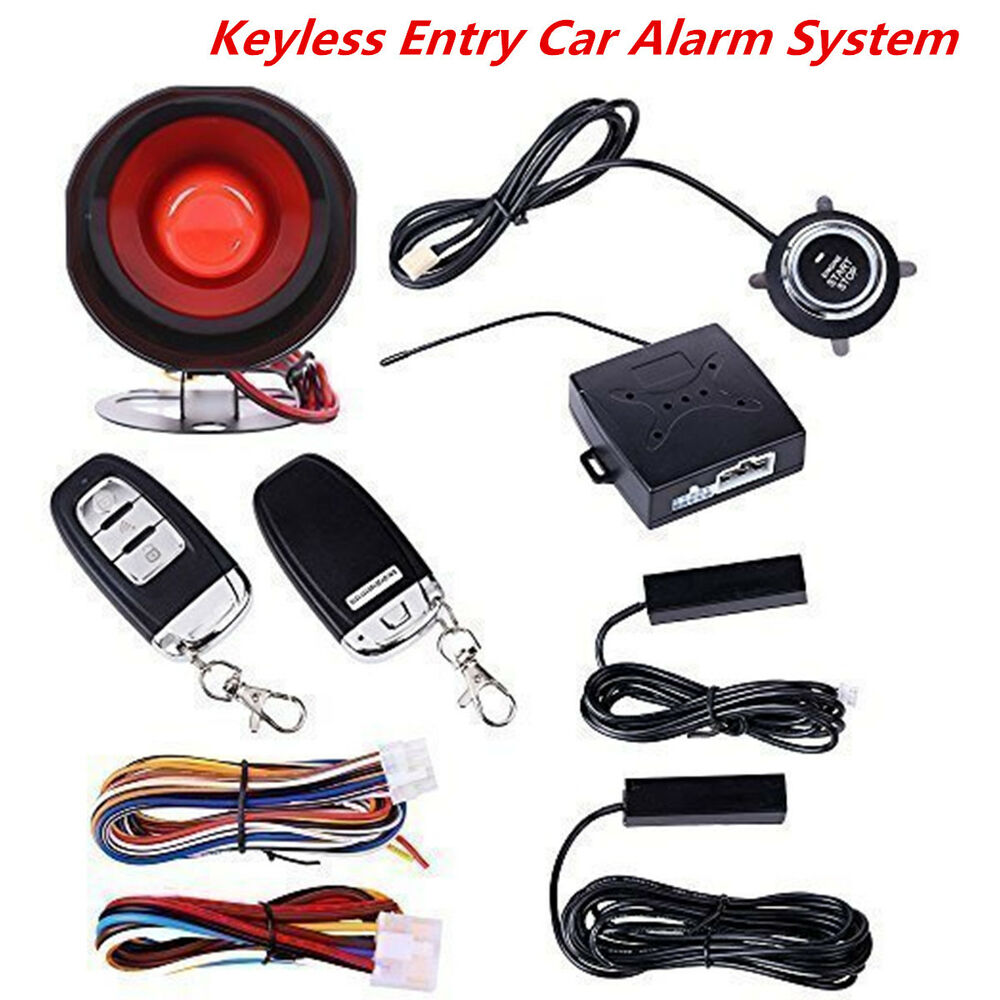 car suv alarm system keyless entry push button start. Black Bedroom Furniture Sets. Home Design Ideas