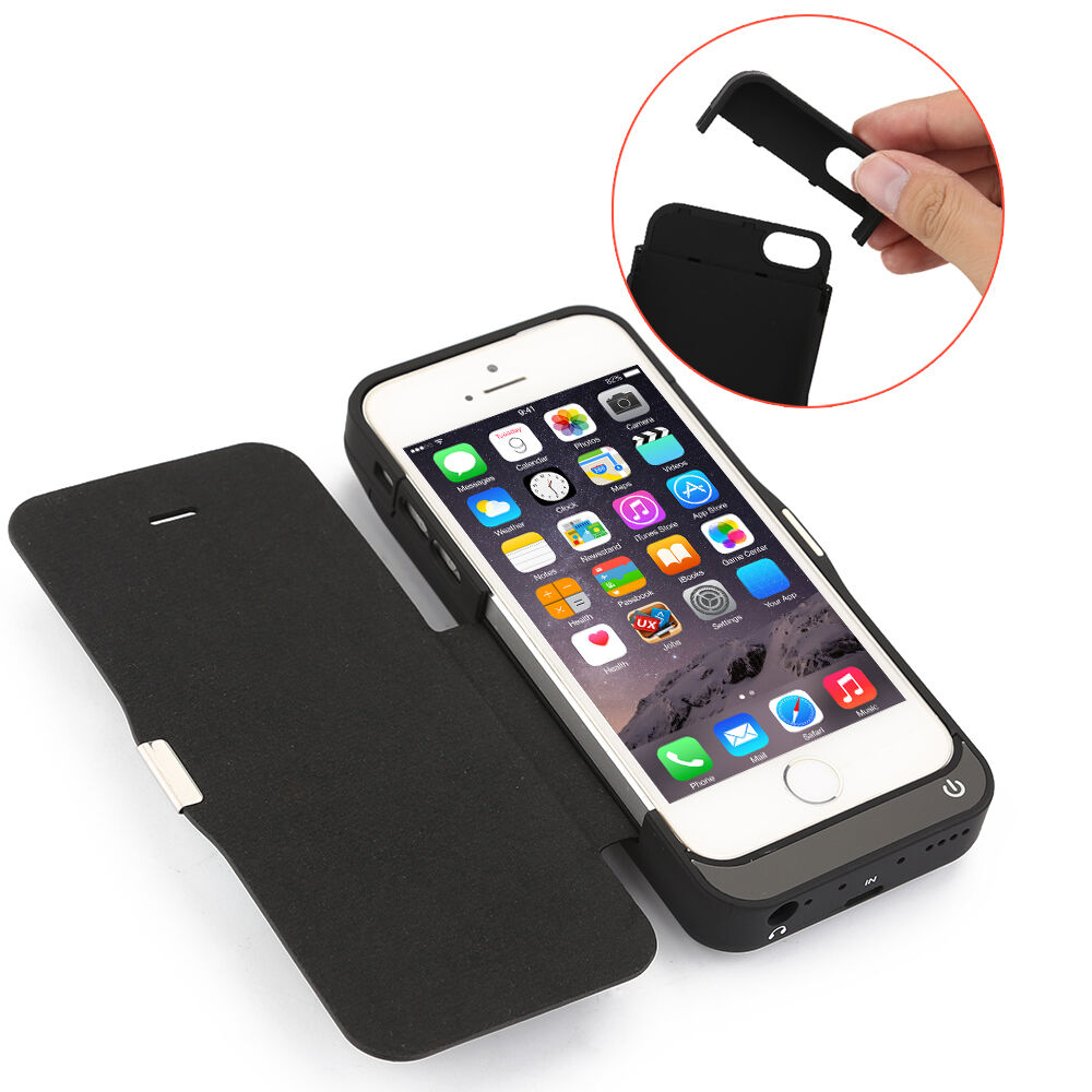 iphone 5 5s 5c se zusatzakku extern batterie akku case h lle power pack 7000mah ebay. Black Bedroom Furniture Sets. Home Design Ideas