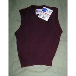 Royal Park Size XXS Wine Sweater Vest Pullover Style 450, NWT