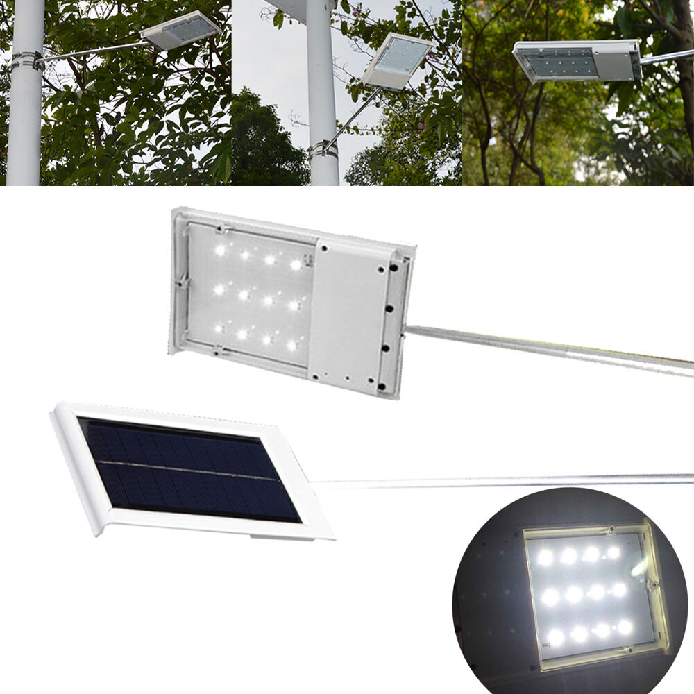 Wall Street S Bright Lights : Bright 12 LED Solar Powered Wall Street Light Garden Lamp Outdoor Road Pathway eBay