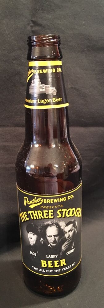 The Three Stooges Empty Beer Bottle 1998 Panther Brewing ...