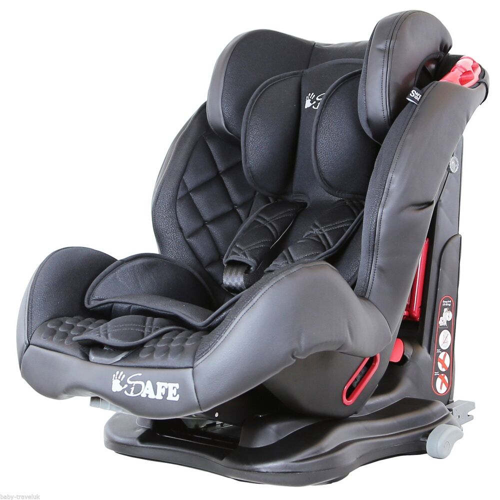 isafe multi recline car seat group 1 2 3 9 months 12 years raven black ebay. Black Bedroom Furniture Sets. Home Design Ideas