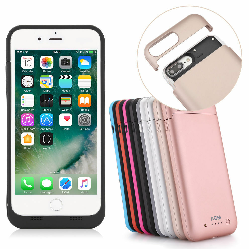 power bank battery charger case charging cover for iphone. Black Bedroom Furniture Sets. Home Design Ideas