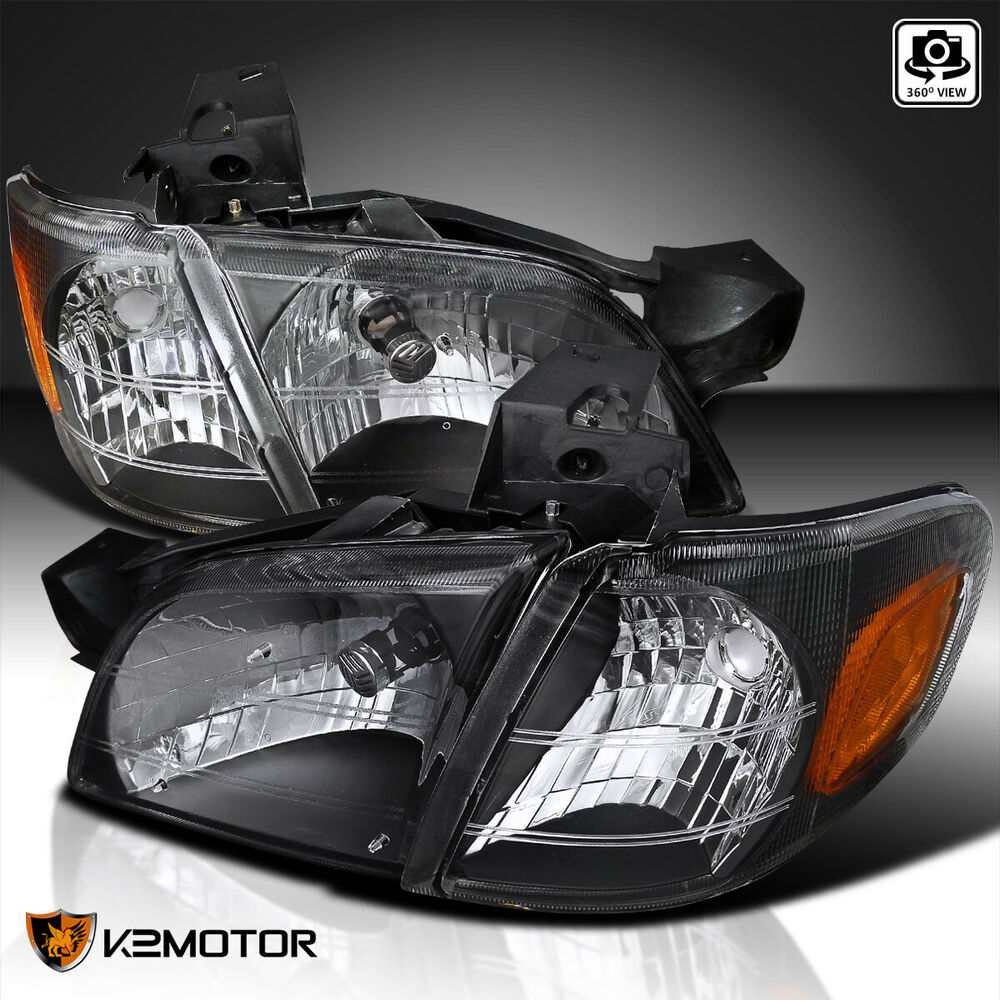 Details About 97 05 Chevy Venture Crystal Black Headlights Corner Signal Lamp Montana Trans