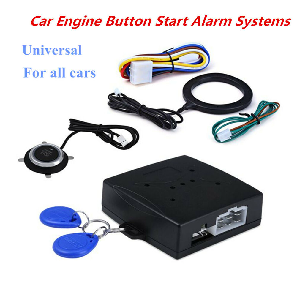 Car Suv Keyless Engine Ignition Power Switch Blue Led: Keyless Entry Car Push One Button Lock Engine Starter