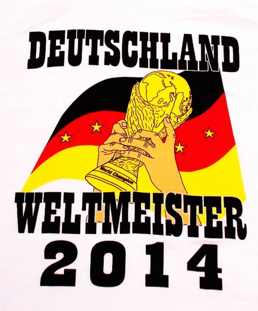 t shirt deutschland weltmeister 2014 gr e xxl trikot 4 sterne fu ball fans ebay. Black Bedroom Furniture Sets. Home Design Ideas