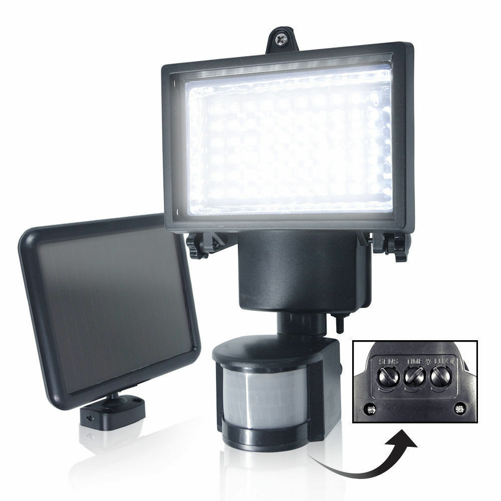 bright led solar powered sensor security flood light motion outdoor garden l ebay