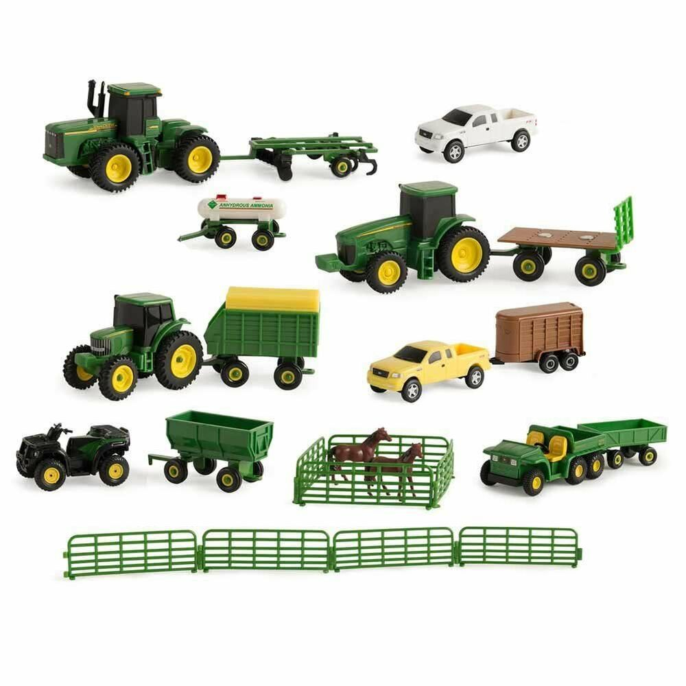 Farm Implement Pieces : New john deere piece farm toy value set ages