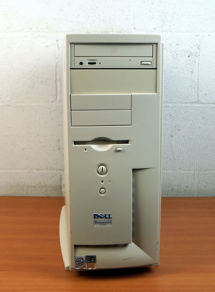 Dell Dimension 4100 Desktop Pc Pentium Iii 733mhz 128mb