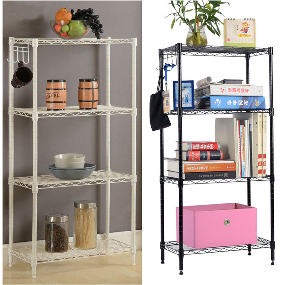 4-Tier Storage Rack Organizer Home Kitchen Shelving Steel