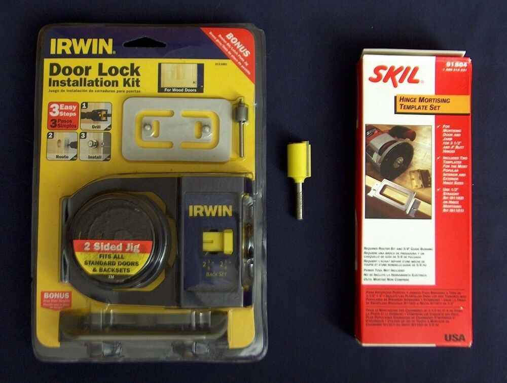 New Irwin Wood Door Lock Jig Skil Hinge Installation