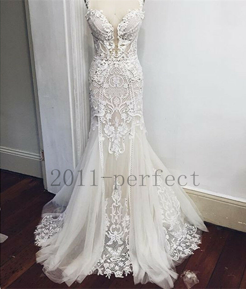 2017 lace wedding dresses white pure mermaid custom lace for Where to sale wedding dresses