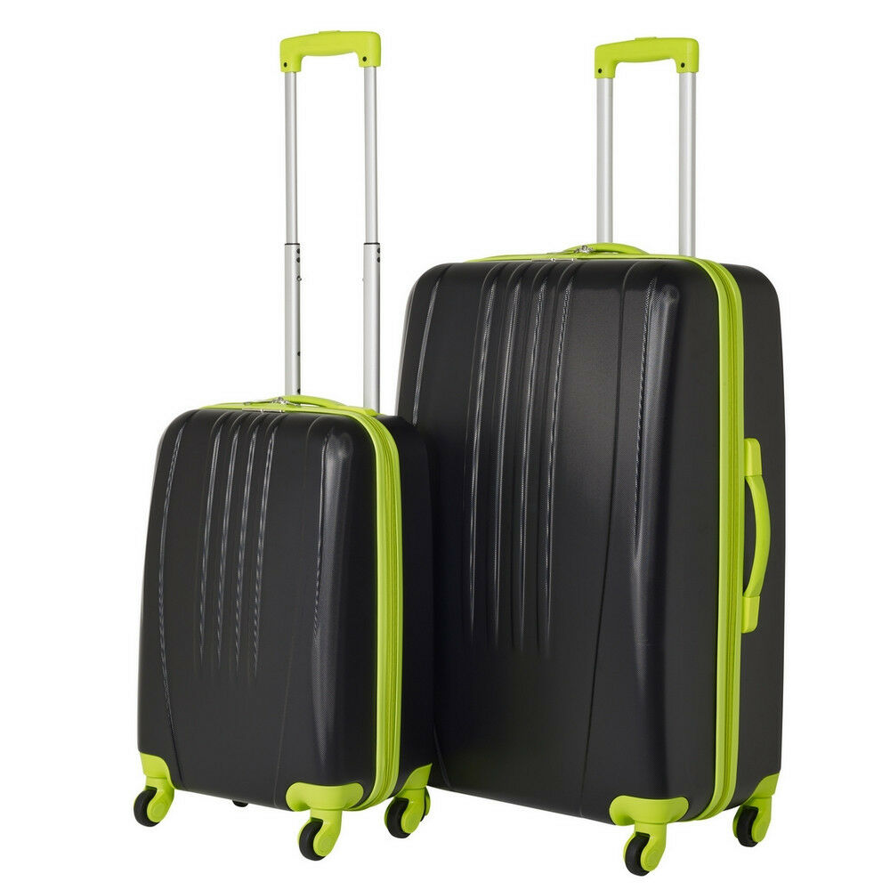 swiss case luggage 4 wheel spinner bold 2 piece abs hard. Black Bedroom Furniture Sets. Home Design Ideas
