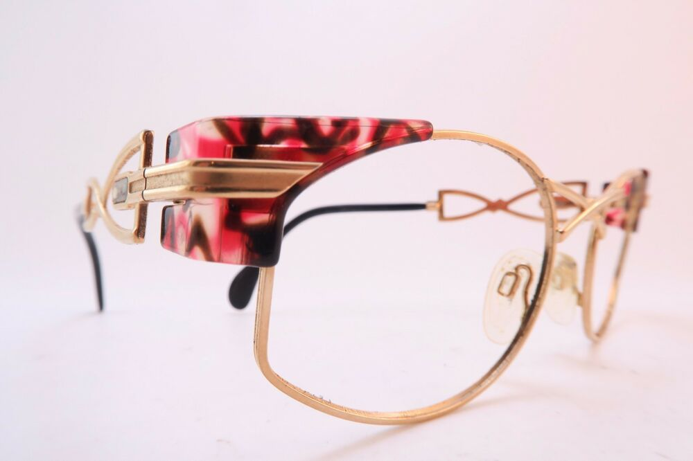Vintage 80s Cazal eyeglasses frames red size 54-19 made in ...
