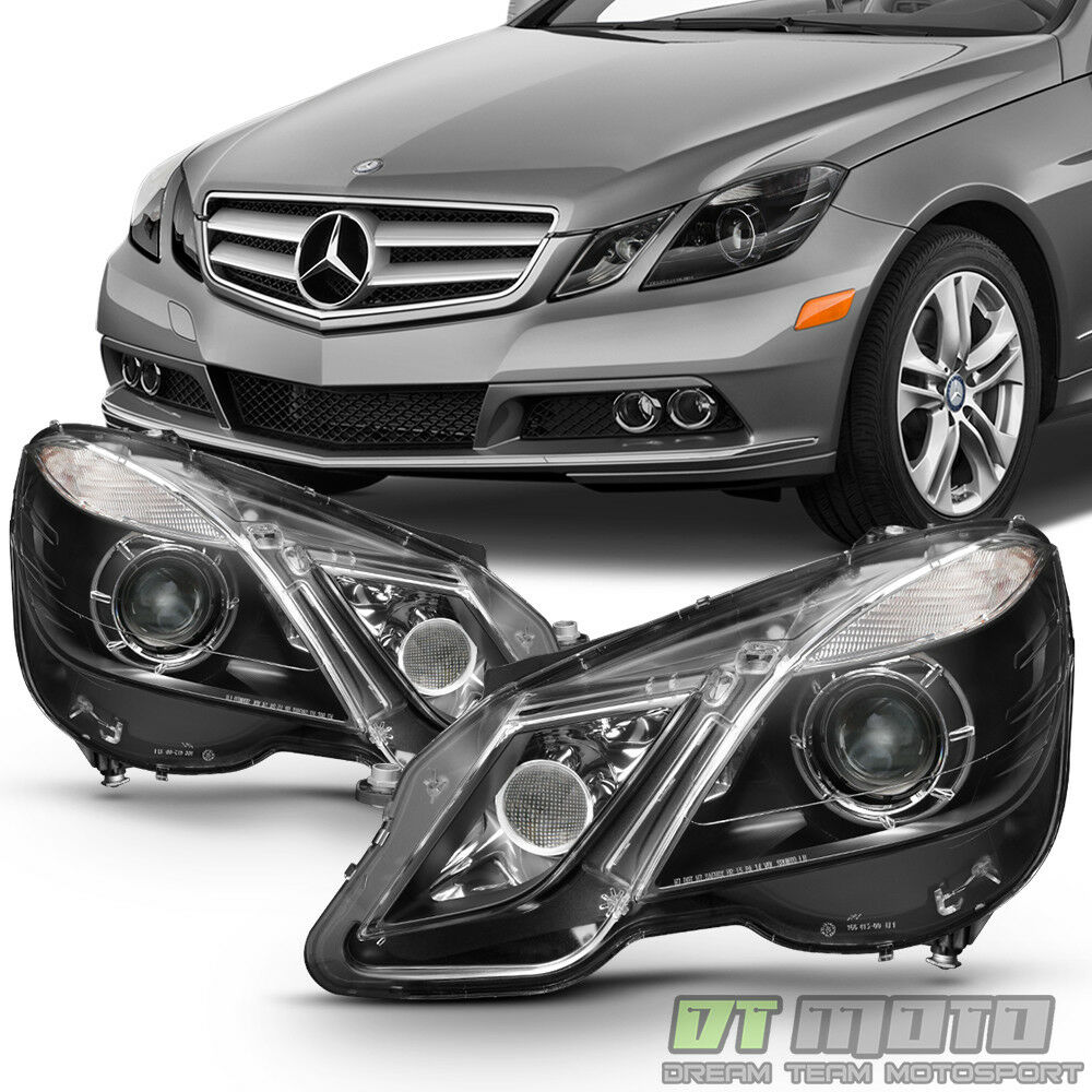 Black 2010 2013 mercedes benz w212 e class e350 e550 for Mercedes benz headlight bulb