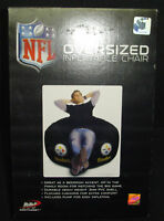 Pittsburgh Steelers Football Black Inflatable Air Chair w free pump Large Size