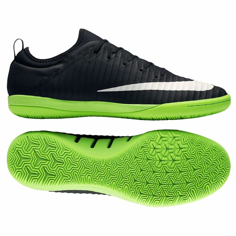 Details about Nike Mercurial X Finale 2017 NikeSkin Indoor Soccer Shoes  Pitch Black - Green 292d1a542f