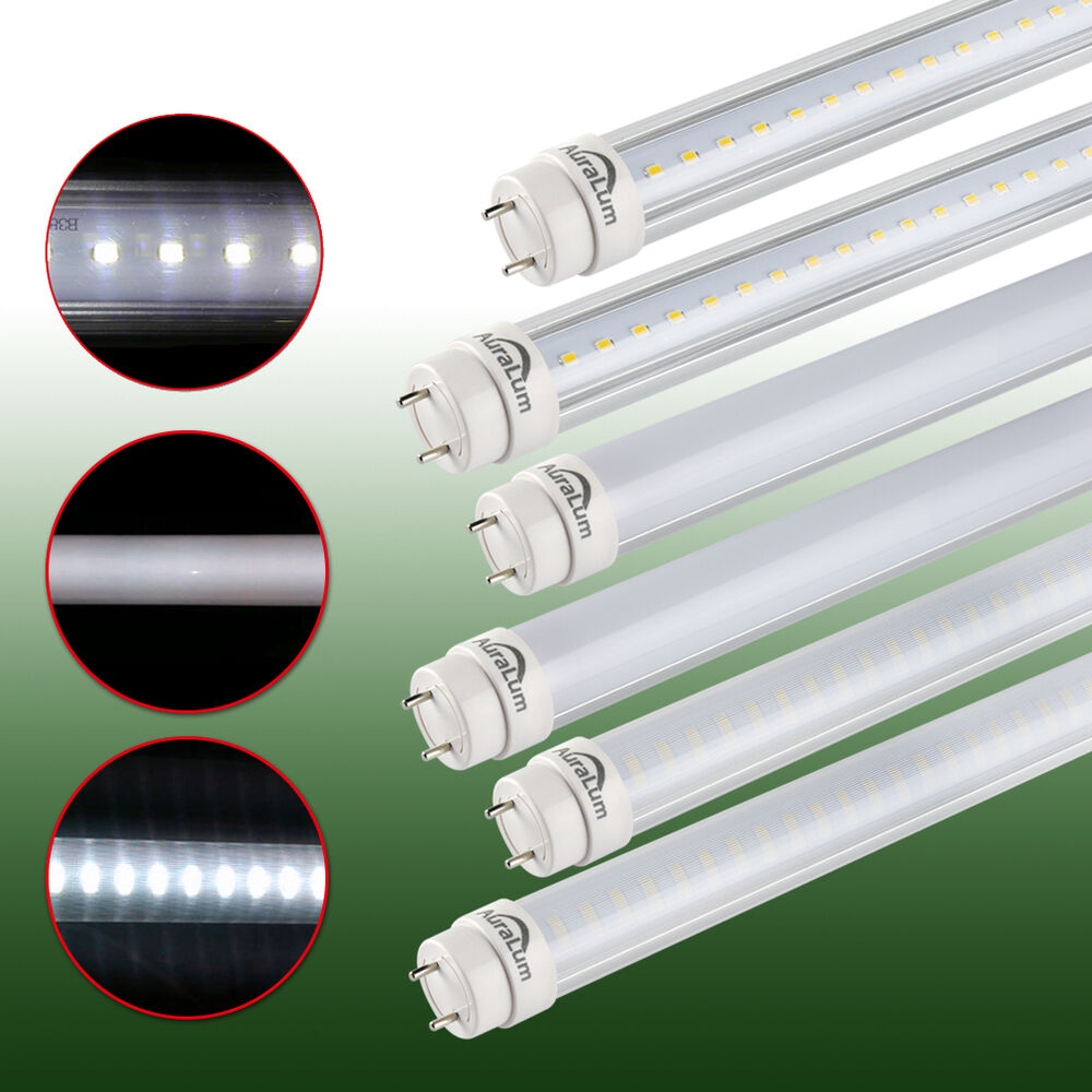 auralum 60cm 90cm 120cm 150cm g13 t8 led leuchtstoffr hre tube r hre 10w 24w ebay. Black Bedroom Furniture Sets. Home Design Ideas