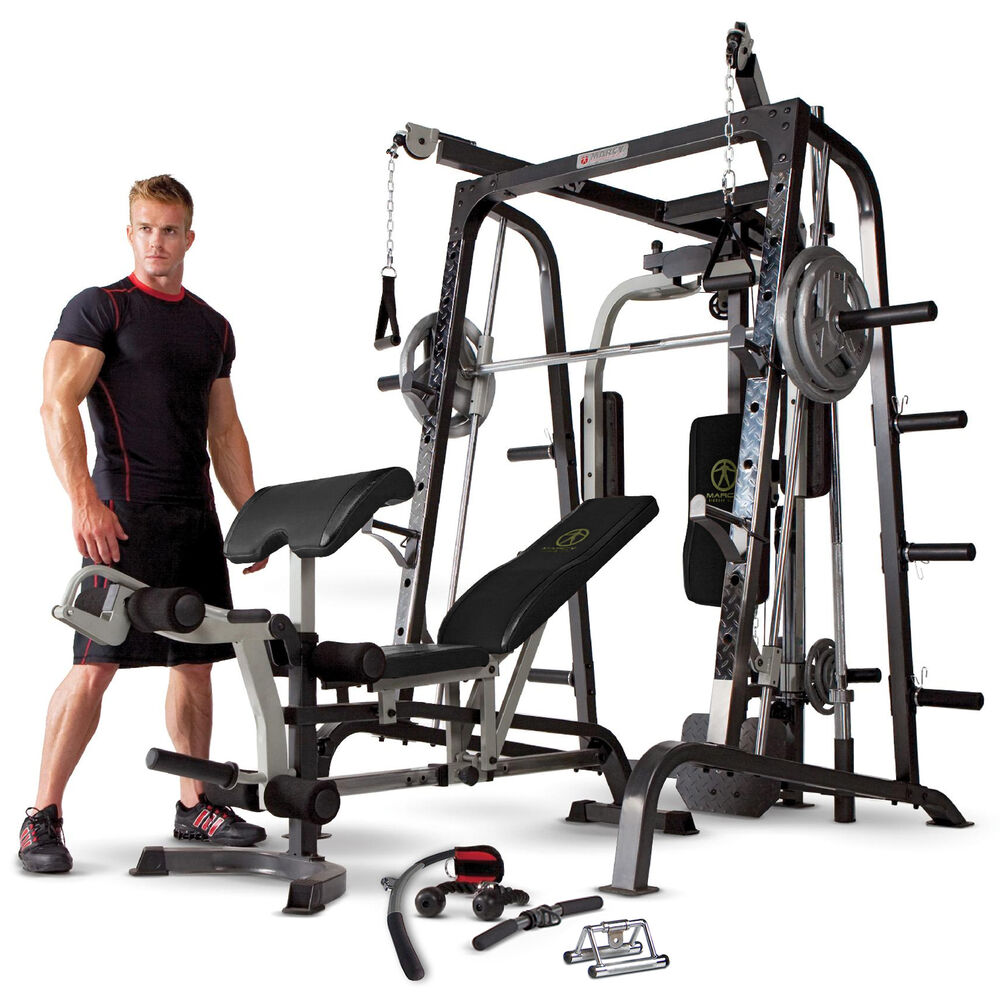 Home Exercise Equipment Price: Marcy Diamond Elite MD9010G Smith Machine Home Gym With