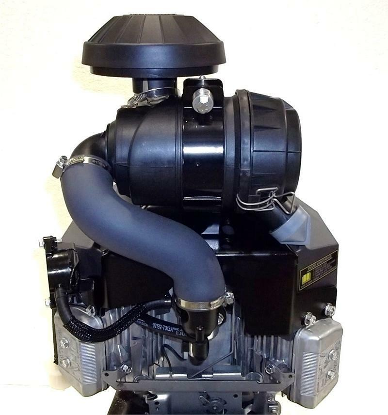 "V Twin Quad Engine: Kawasaki Vertical 19 HP V-Twin KAI OHV Engine ES 1"" X 3-5"