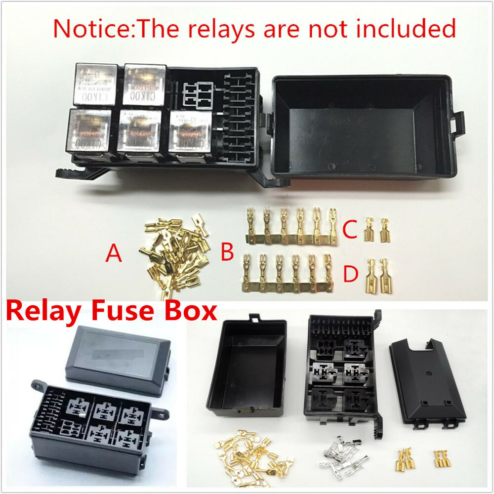 Car Fuse Relay Box Socket Fuse Relay Holder 6 Relay 5 Road The Nacelle Insurance 4683812502106