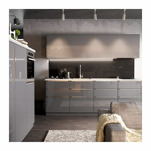gloss grey kitchen cabinets ikea ringhult high gloss gray door drawer cabinet 15937