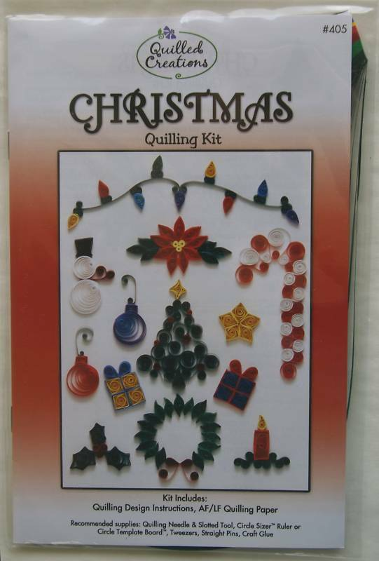 Christmas Quilling Kit Instructions Paper 689988749448 Ebay