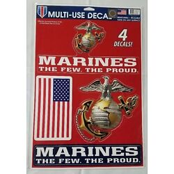 Marines Multi Use Decals Stickers Clings US United States Military 11'' x 17'' New