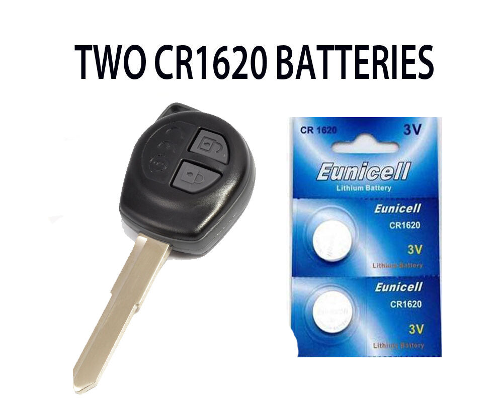 2 new suzuki swift sx4 vitara alto agila remote key fob batteries cr1620 ebay. Black Bedroom Furniture Sets. Home Design Ideas