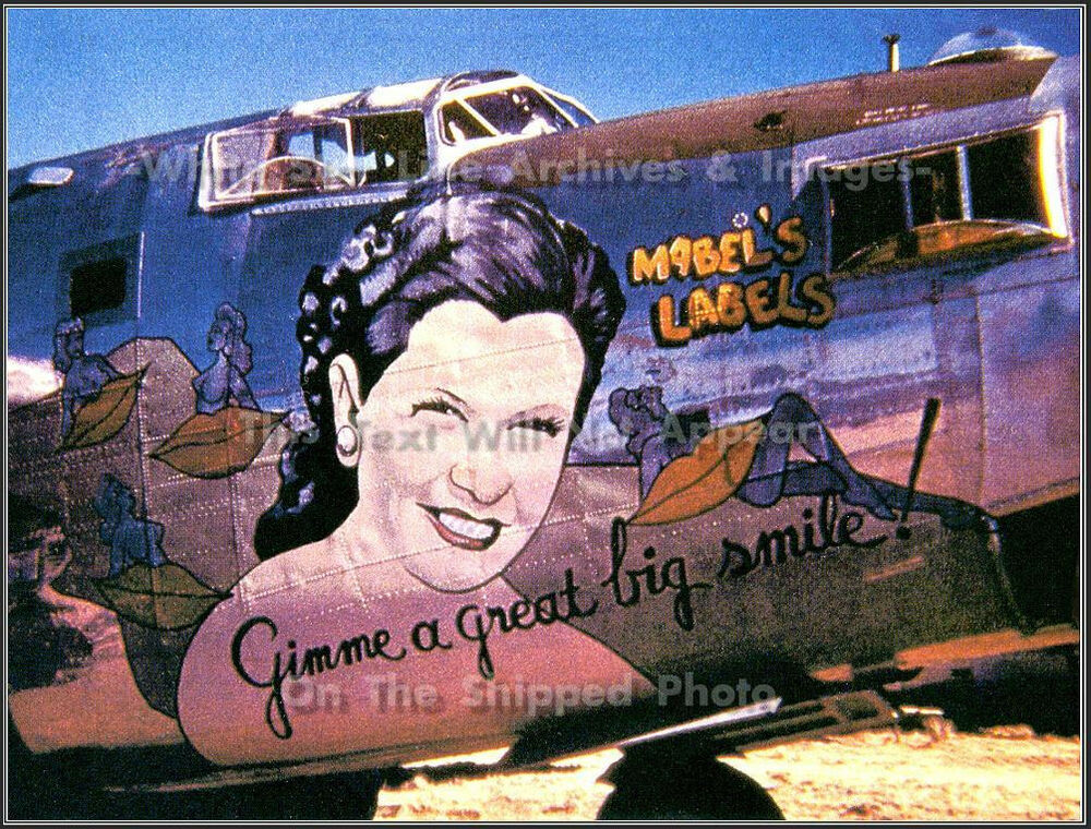 B 24 Liberator Nose Art Photo: Nose Art: Mabel...