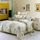 Beige Gray 100% Cotton Bed Duvet Cover Quilt Cover Set / Sheet Set/Fitted/Flat