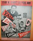 Vintage Antique Song Book Sheet Music Stay As Sweet As You Are College Rhythm