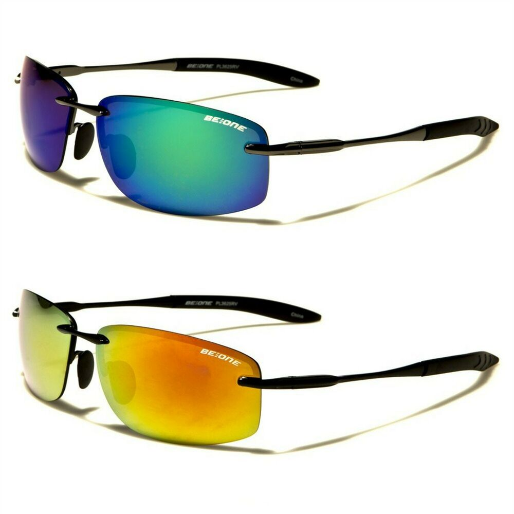 Rimless Polarized Sunglasses : New BeOne Rimless Polarized Mens Driving Sunglasses eBay