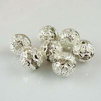 New high-quality silver-plated inlay crystal beads Jewellery findings