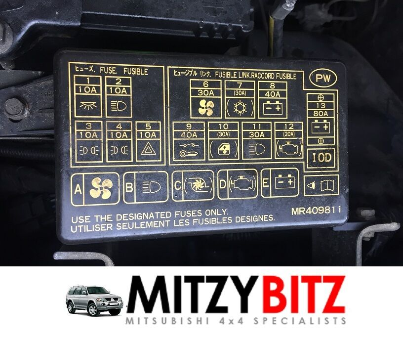 S L on 2003 mitsubishi montero fuse box diagram