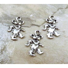 Three (3) Pewter Dancing Bear Charms -5069