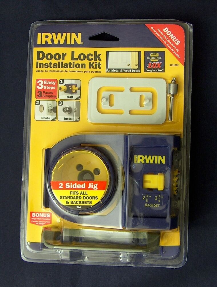 Door Knob Installation Kit : New irwin bi metal door knob deadbolt lock jig