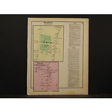 Vermont, Addison County Map, 1871, Bridport, West Cornwall, Y4#79
