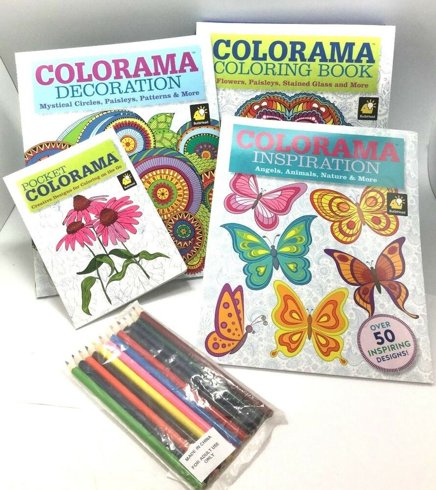 4 Set Colorama Relaxing Therapy Coloring Books Collection 12