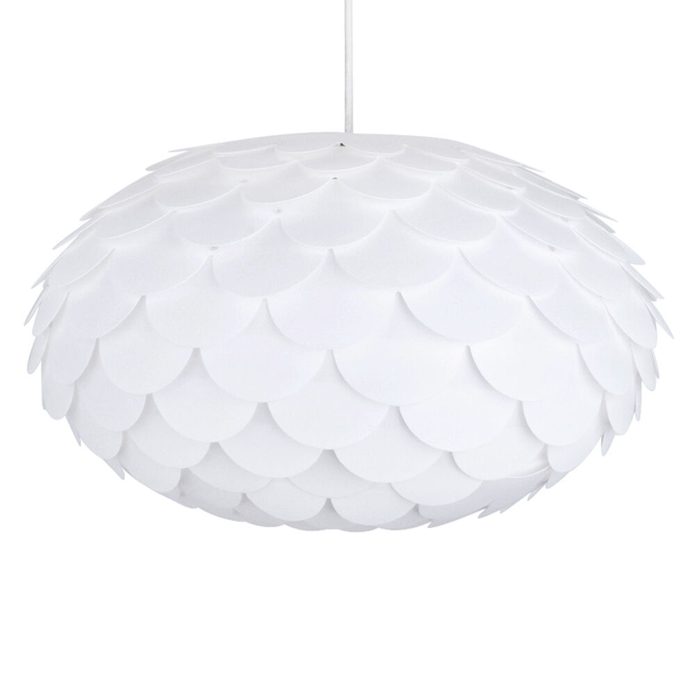 Lamp Shades For Ceiling Lights: Modern Designer Artichoke Style White Ceiling Pendant