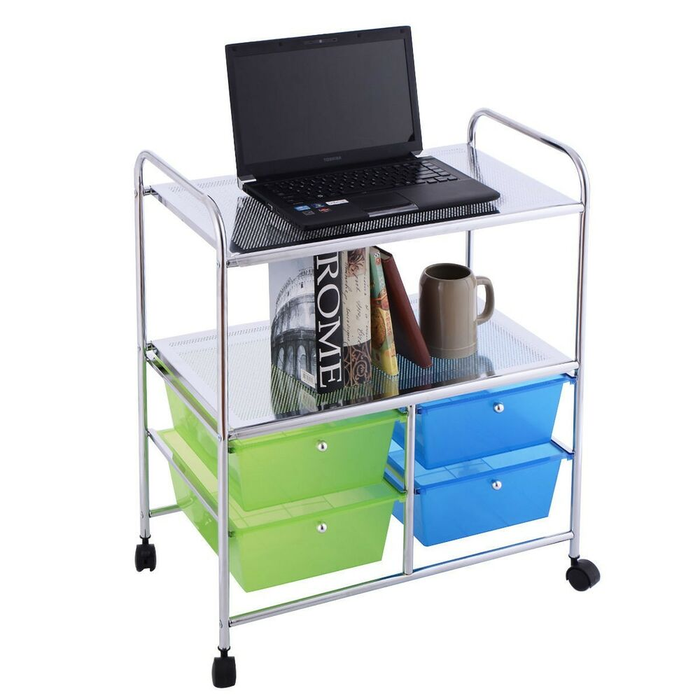rolling storage carts rolling storage cart shelf tiers 4 drawers organizer wheel 25642