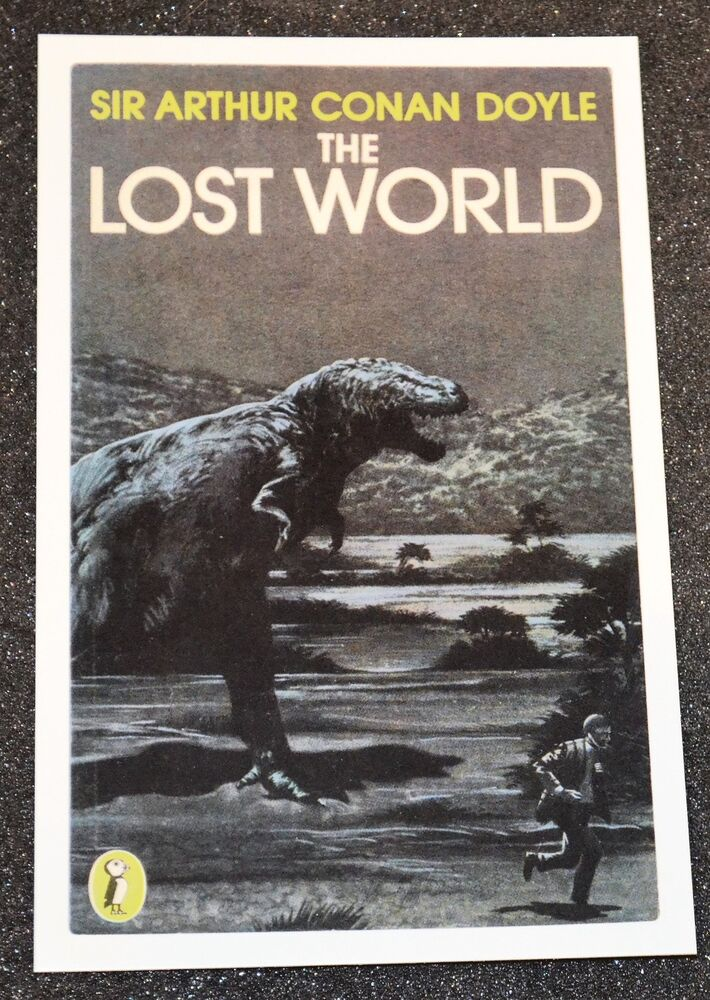 Classic Book Cover Postcards ~ Classic the lost world book cover postcard new ebay