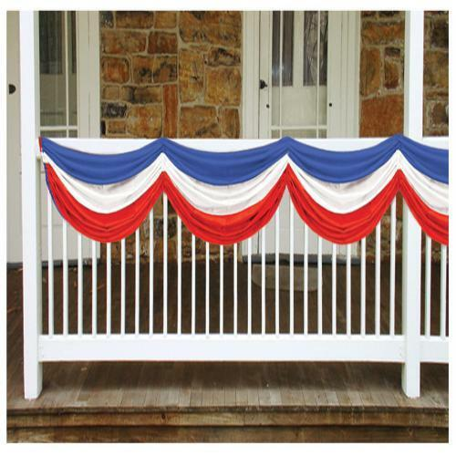 JULY 4TH INDEPENDENCE DAY PATRIOTIC COLORS FABRIC BUNTING