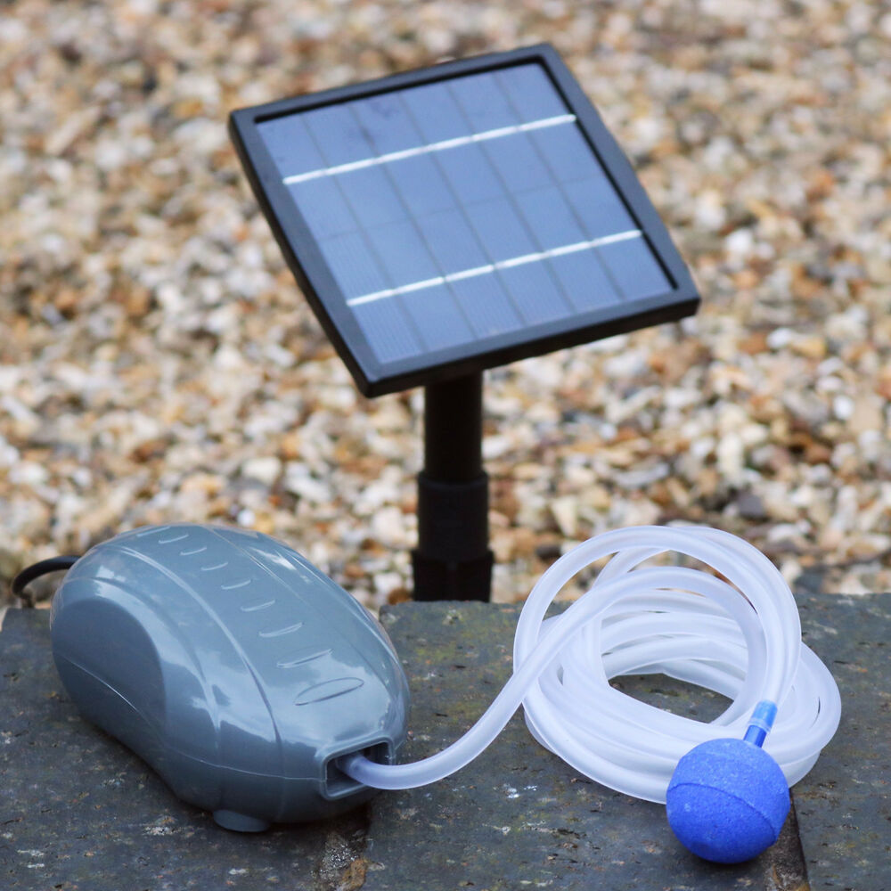 1 5w Solar Powered Oxygenator Pond Aerator Oxygen Pump By Pk Green Ebay