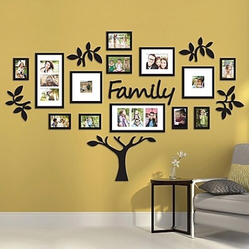 19 Piece Family Tree Wall Photo Collage Art Frame Picture