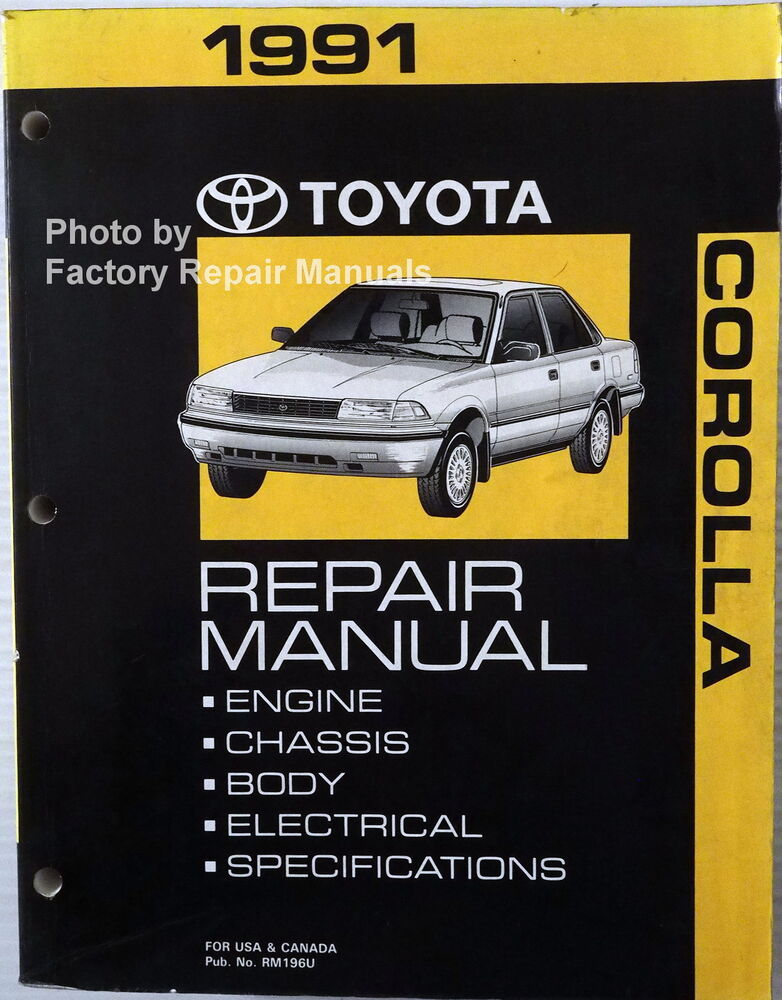 toyota camry 1991 service and repair manual